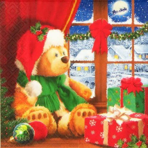 Paper Napkin - Christmas Teddy