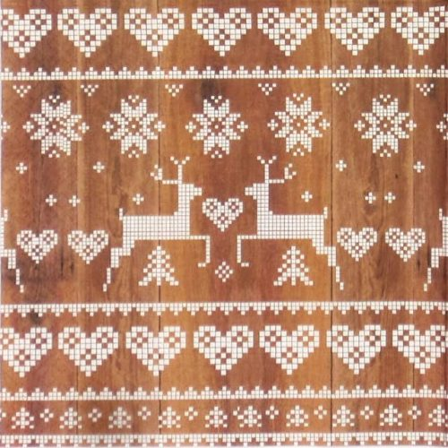 Paper Napkin - Pattern on Wood