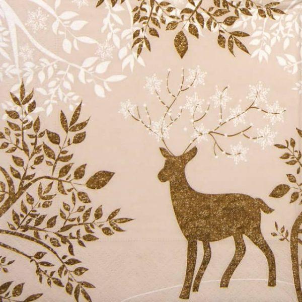 Paper Napkin - Golden Bambi