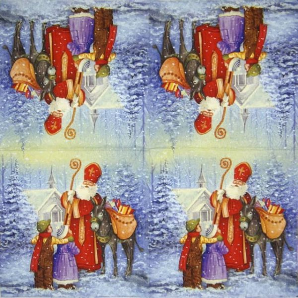 Paper Napkin - Saint Nicholas