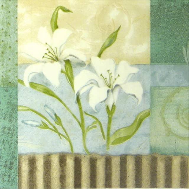 Paper Napkin - Romantic Lily