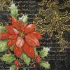 Paper Napkin - Stylish Poinsettia