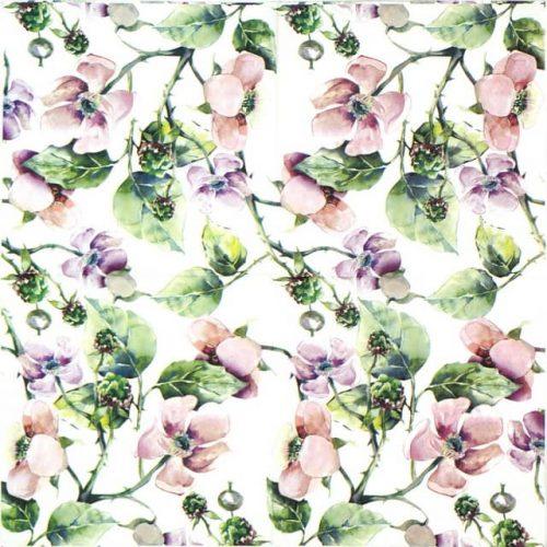 Paper Napkin - Pink Wild Roses