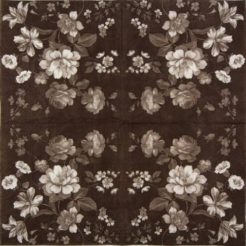 Lunch Napkins (20) - Beautiful Mystery brown