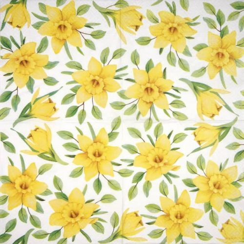 Paper Napkin - Daffodils in Bloom