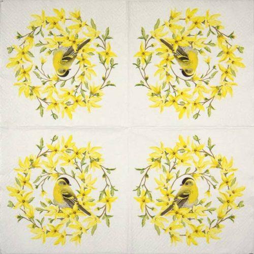 Paper Napkin - Forsythia & Bird