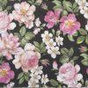 Paper Napkin - Roses Glory black