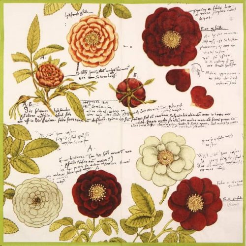 Lunch Napkins (20) - Gessner Roses