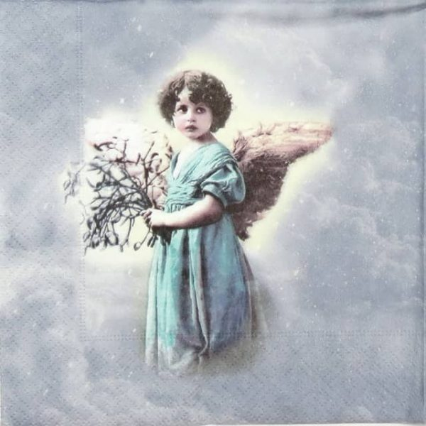 Paper Napkin - Turquoise angel