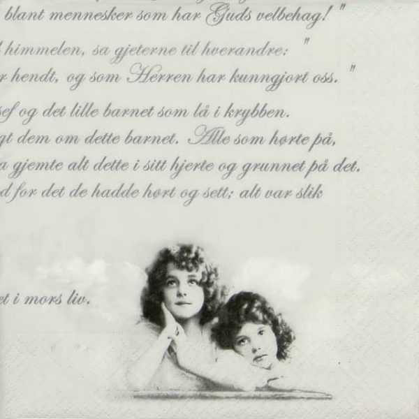 Lunch Napkins (20) - Romantic Angels and Text