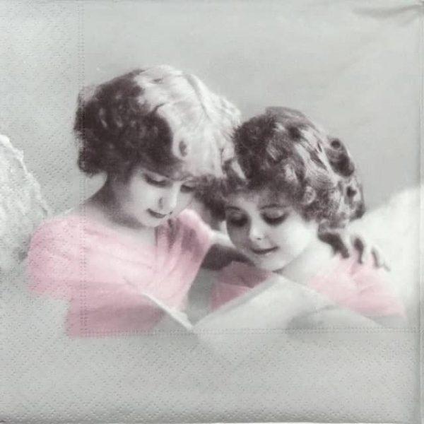 Paper Napkin - Reading Angels