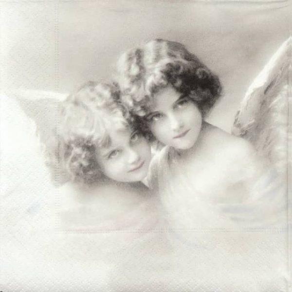 Paper Napkin - Angel sisters