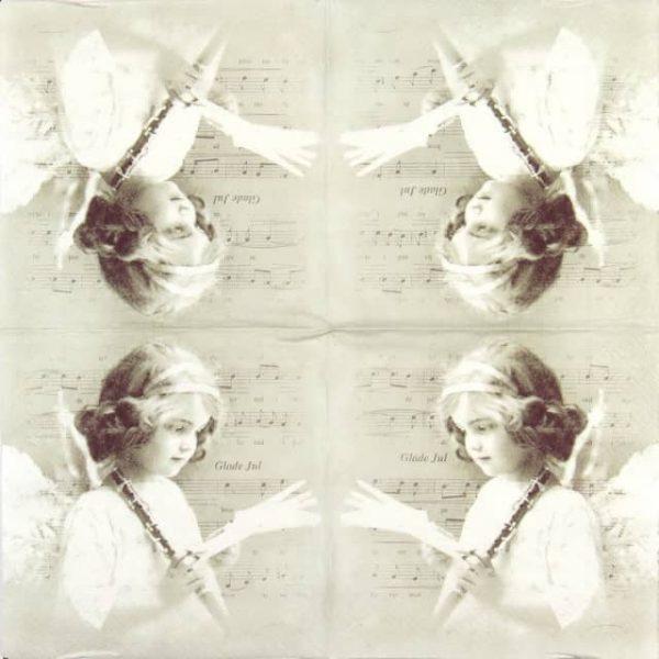 Paper Napkin - Musical Angel