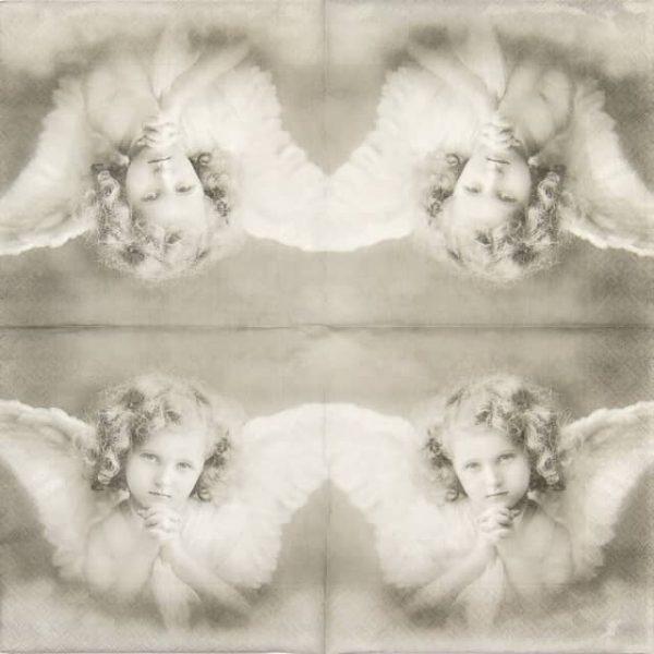 Paper Napkin - White Angel