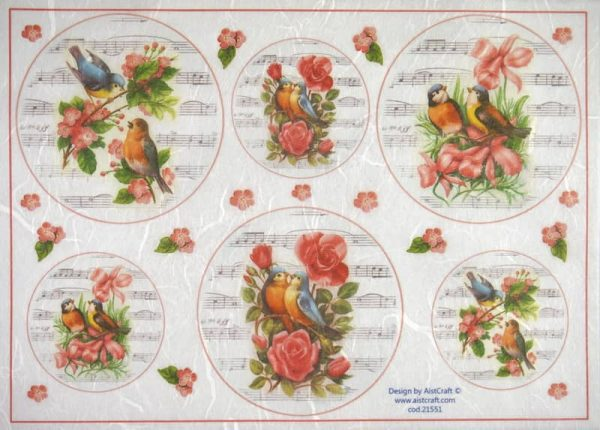 Rice Paper - Roses Birds and Music