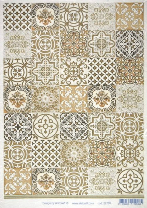 Rice Paper - Brown Tiles
