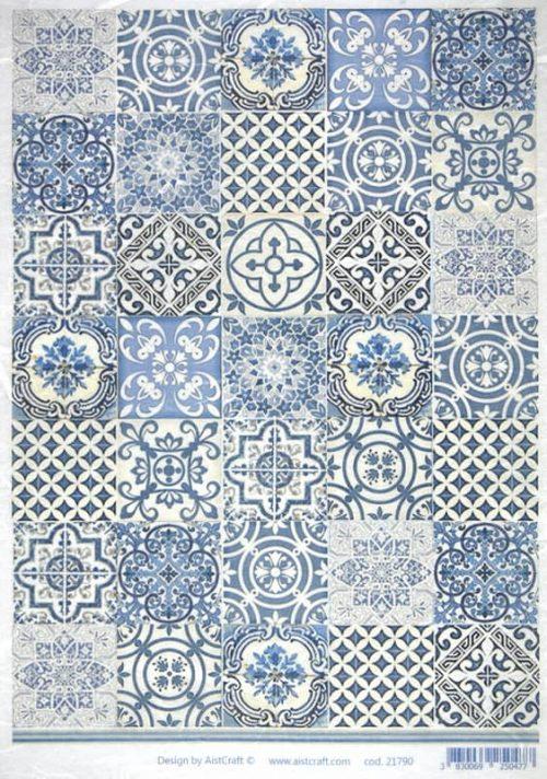 Rice Paper - Blue Tiles