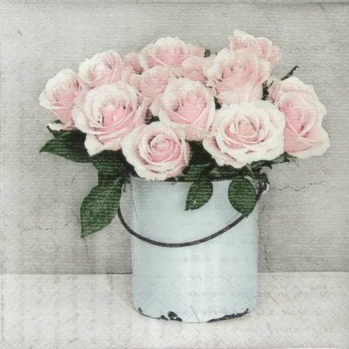 Paper Napkin - Rose Bucket