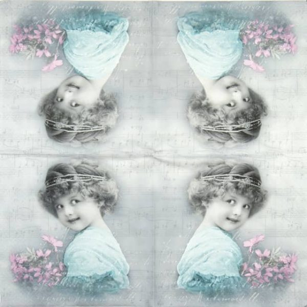 Paper Napkin - Turquoise Girl