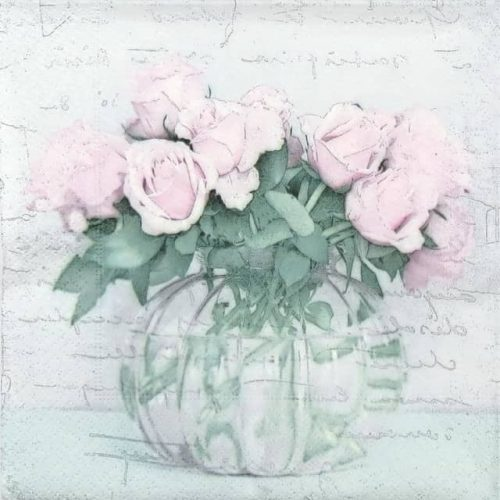 Lunch Napkins (20) - Vase and Roses