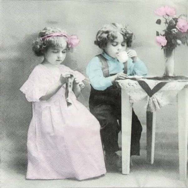 Paper Napkin - Young couple