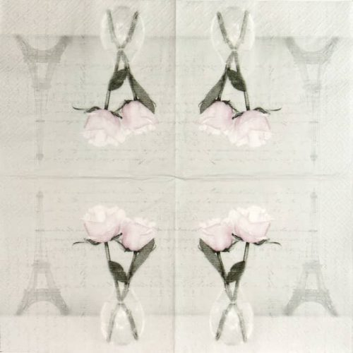Paper Napkin - Two Roses Paris