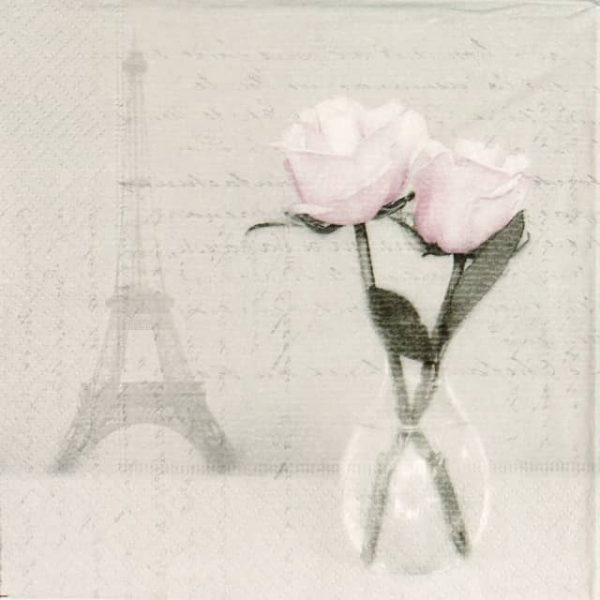 Paper Napkin - Two Roses Paris