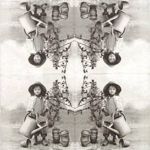 Paper Napkin - Garden Girl
