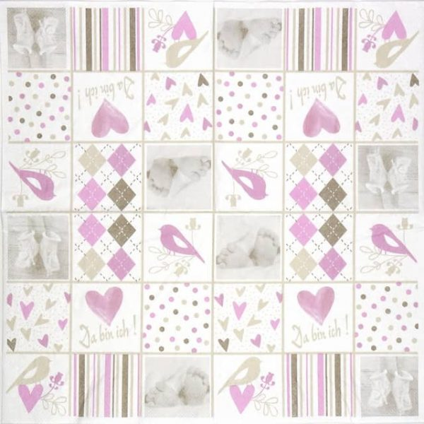 Paper Napkin - Baby Rosa