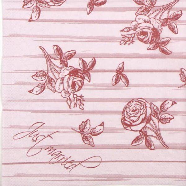 Paper Napkin - Wedding Rose