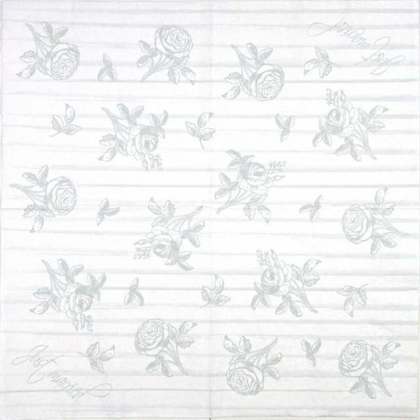 Paper Napkin - Wedding grey