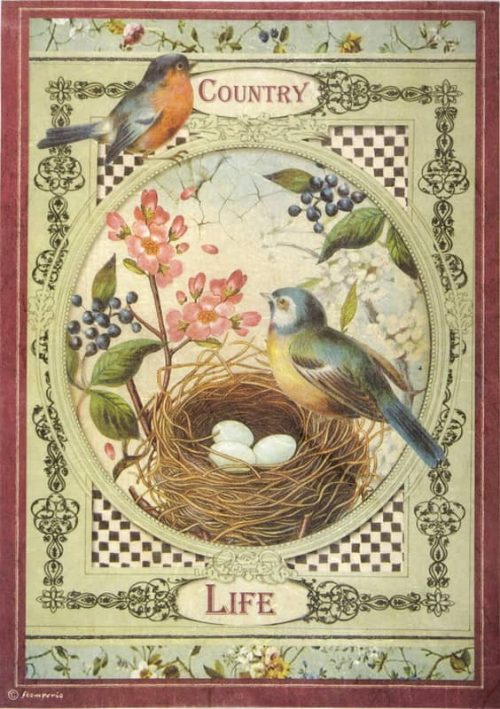 Rice Paper - Country Life Birds