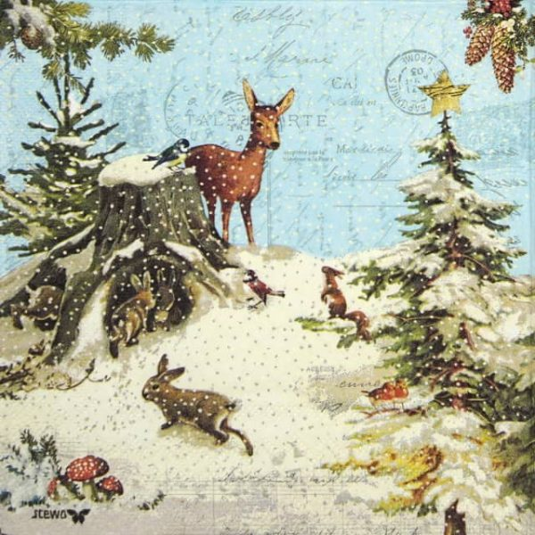 Lunch Napkins (20) - Forest Animals