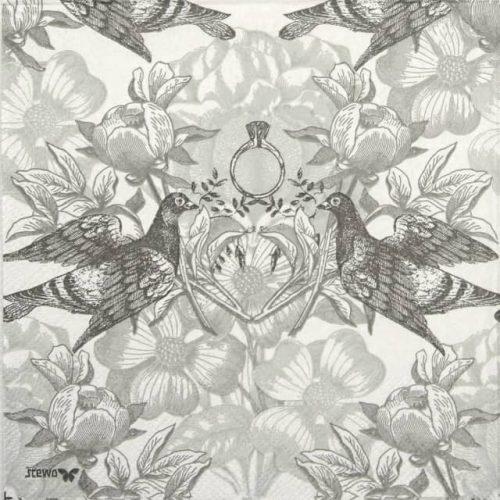 Paper Napkin - Julietta grey