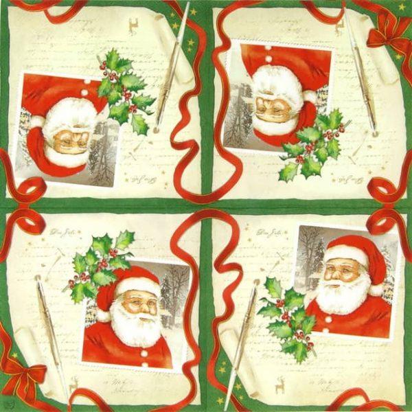 Paper Napkin - Letter to Santa