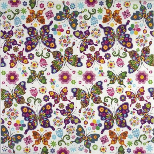 Paper Napkin - Colourful Butterflies