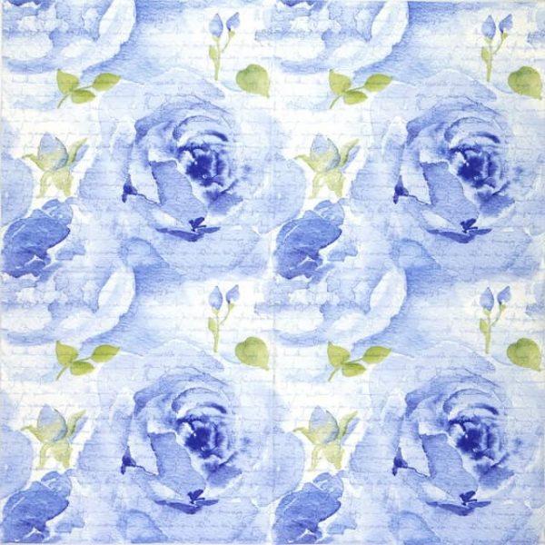 Paper Napkin - Rosa Delicada blue