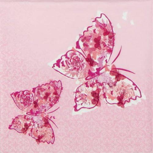 Lunch Napkins (20) - Papillons de Reve pink