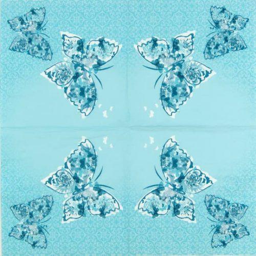 Paper Napkin - Papillons de Reve aqua