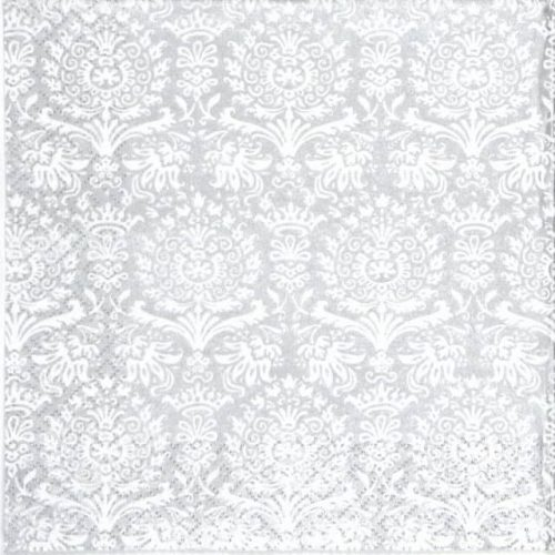 Paper Napkin - Royal Damask silver