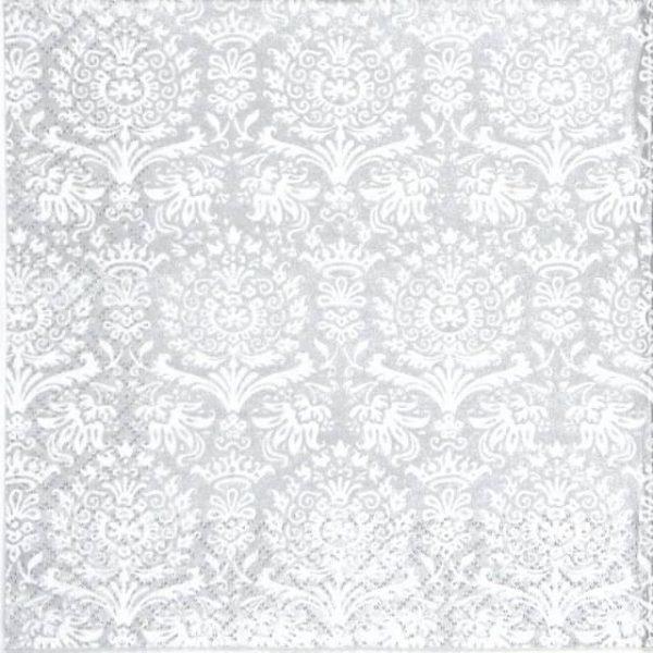 Paper Napkin - Royal Damask silver