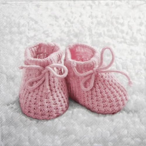 Paper Napkin - Baby Girl Booties