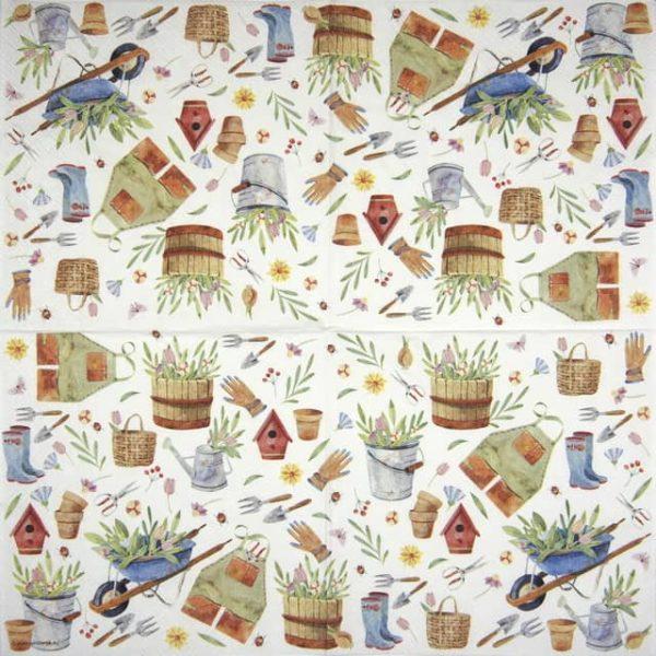 Paper Napkin - Happy Gardening