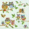 Paper Napkin - Owls in Summerland