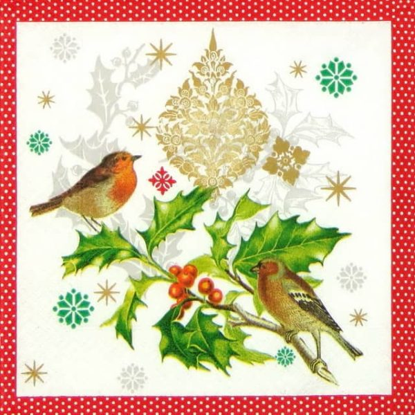 Lunch Napkins (20) - Wintersong Birds