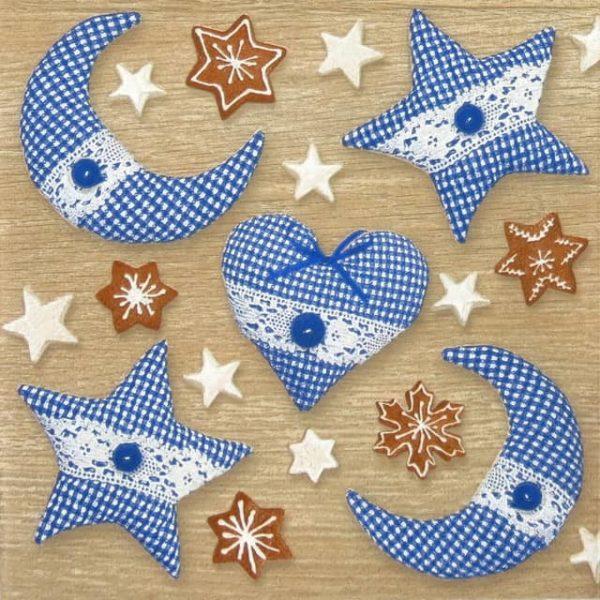 Paper Napkin - Cottage Love blue