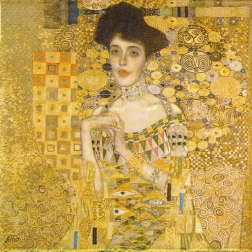 Paper Napkin - Klimt:The Portrait of Adele