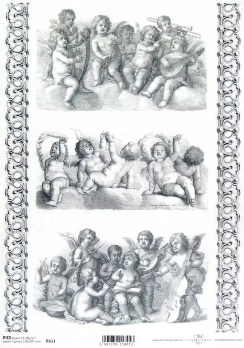 Rice Paper - Baroque Angels Decoupage 3