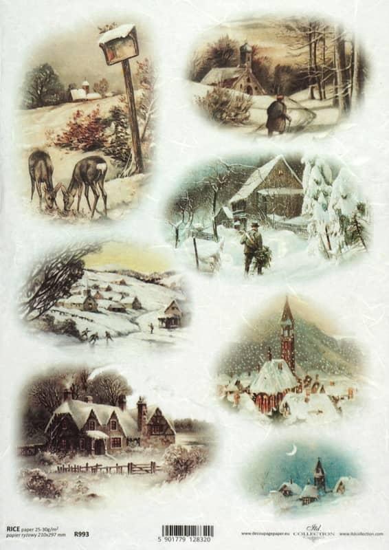 Rice Paper - Winter Landscape Wood