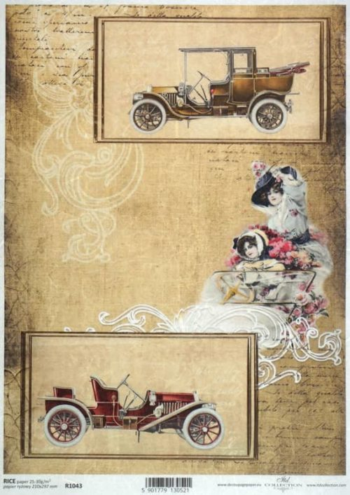 Rice Paper - Vintage Old Cars